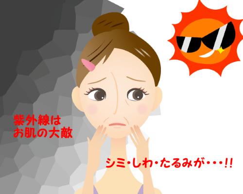 紫外線はお肌の大敵